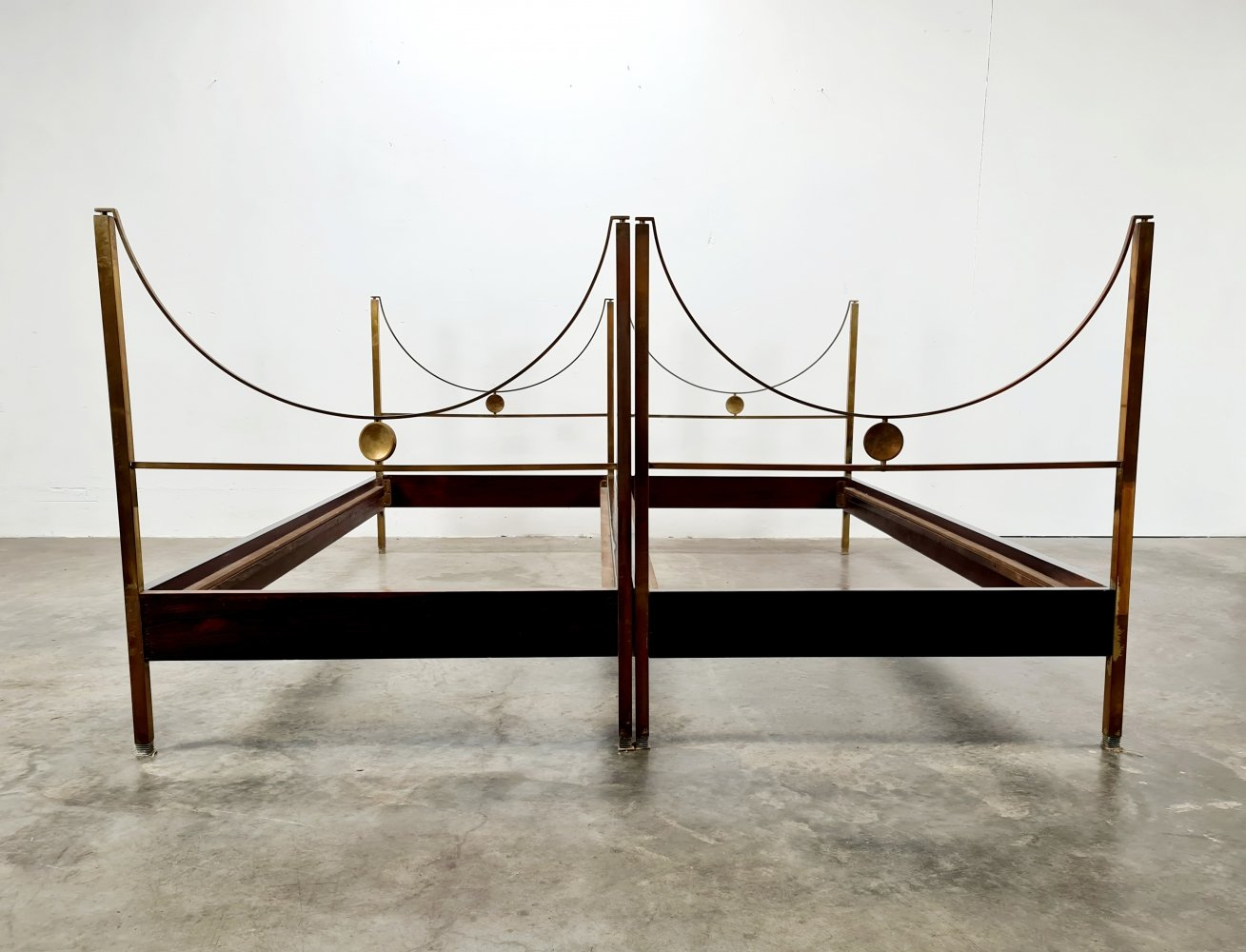 Set of 2 D90 beds by Carlo di Carli for Sormani, 1960s
