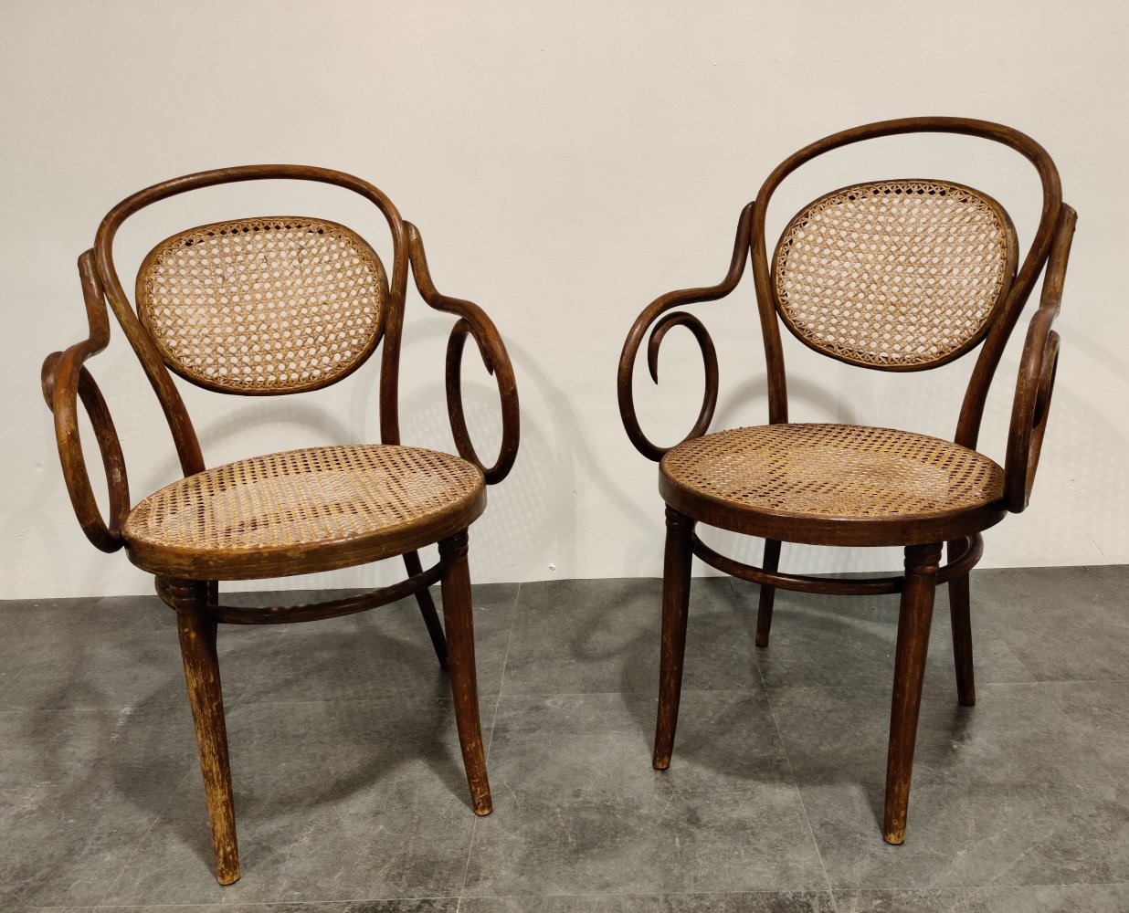 Pair of bentwood armchairs by ZPM Radomsko, 1920s