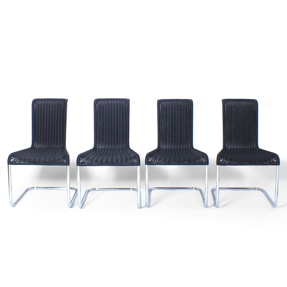 Four B-20 dining chairs by Axel Bruchhäuser for Tecta, 1980s