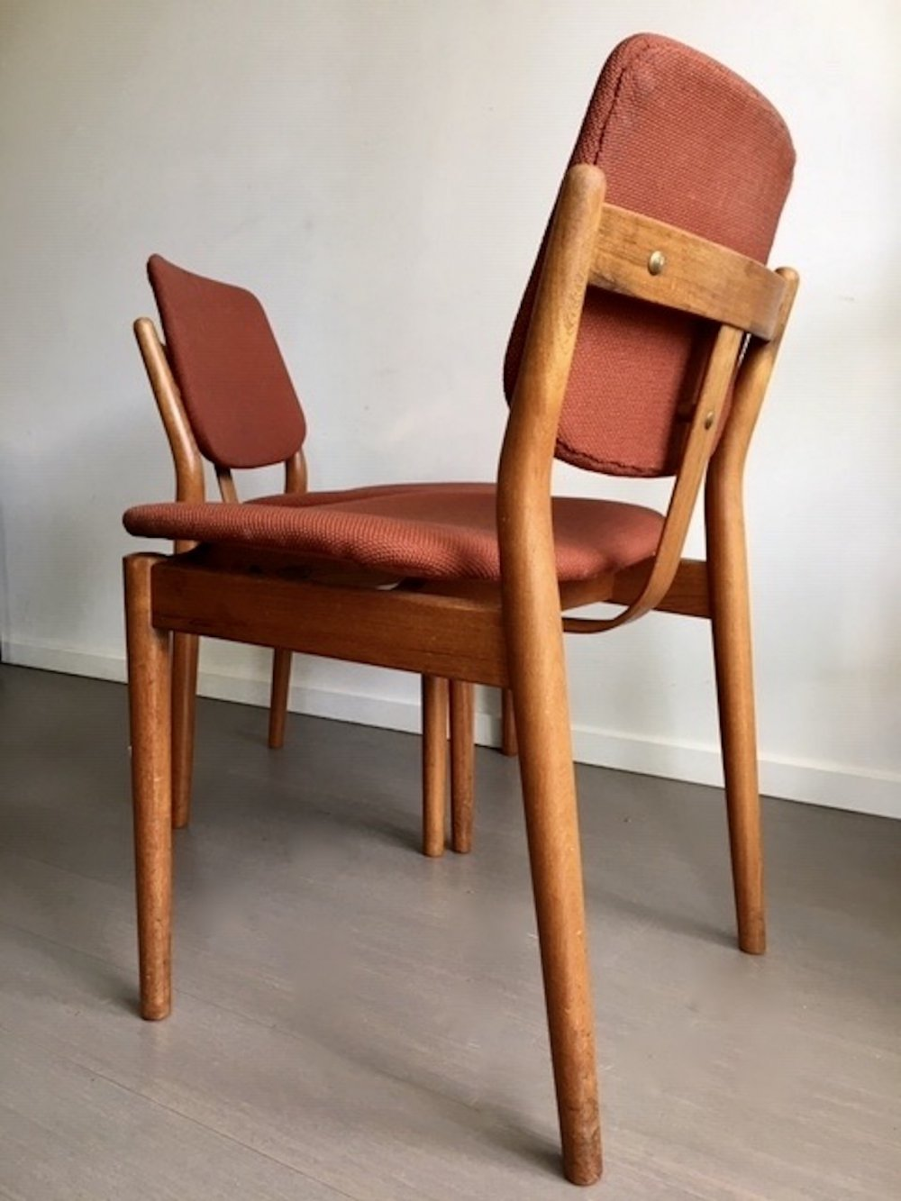 Pair of dining chairs by Arne Vodder for Sibast, 1960s