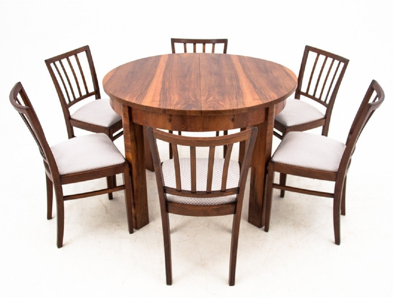 Art Deco Dining Table With Six Chairs 1940s 135294