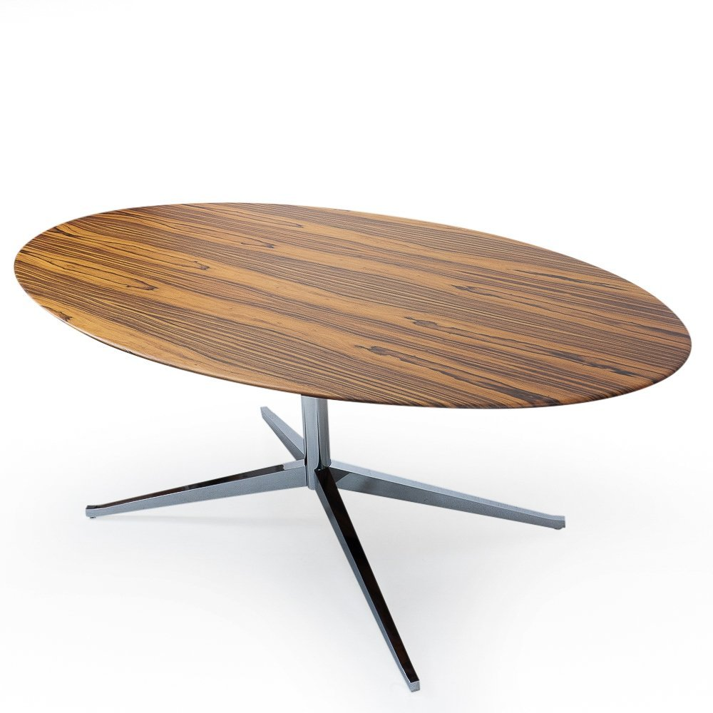 Rosewood Florence Knoll Oval Table Desk, 1960s
