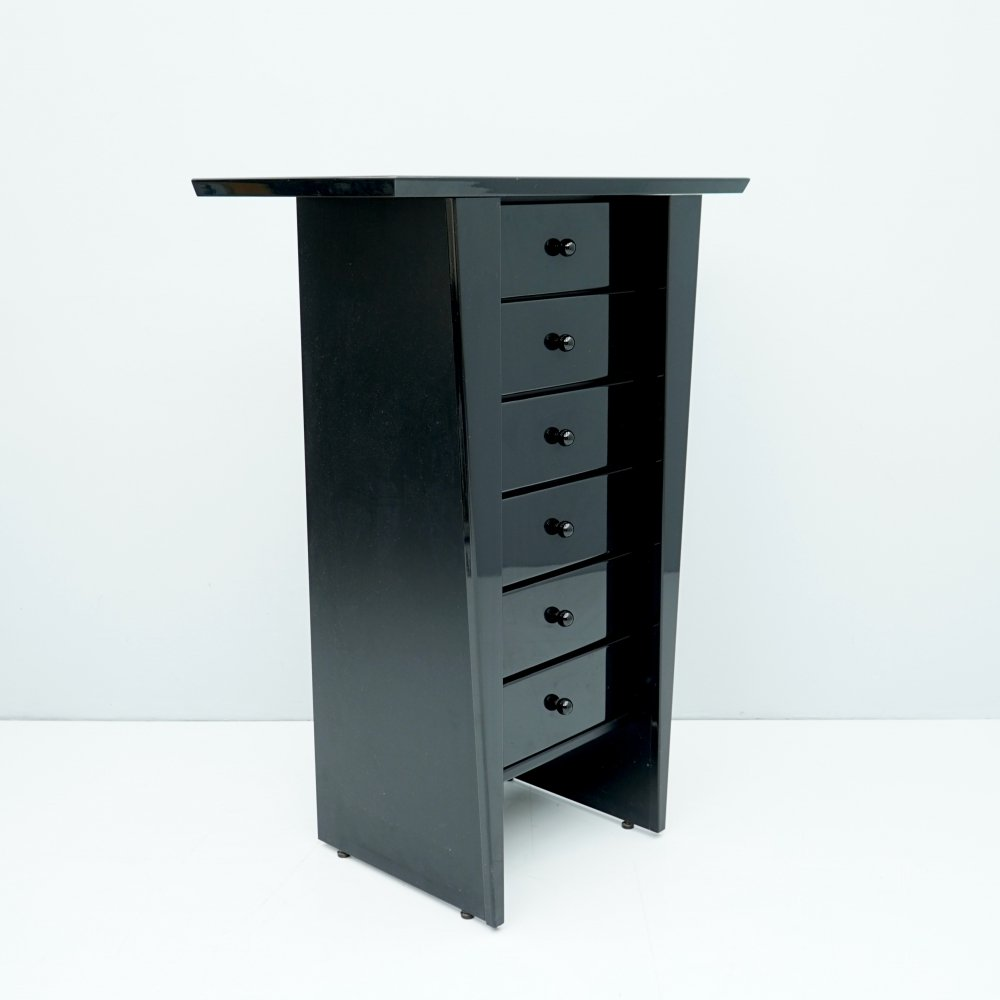 Black Chest of Drawers, 1980s