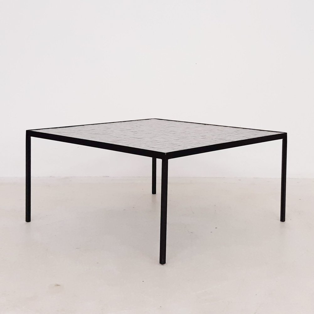 Mosaic & metal coffee table, The Netherlands 1950