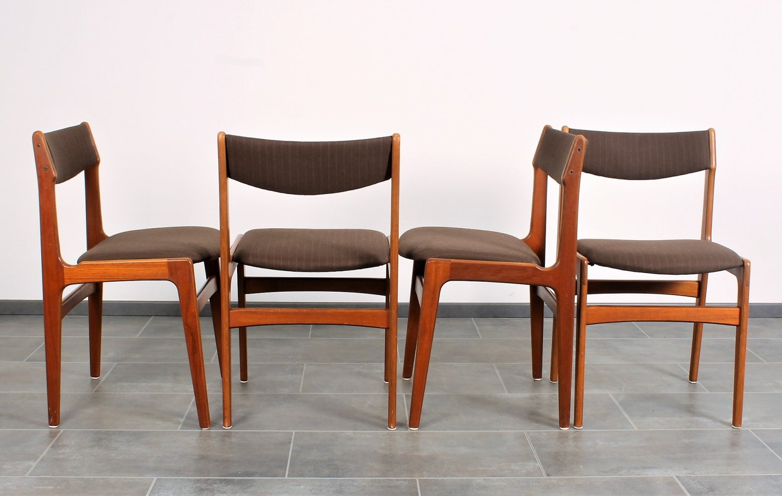 Set of 4 Erik Buch chairs in teak from Anderstrup Denmark