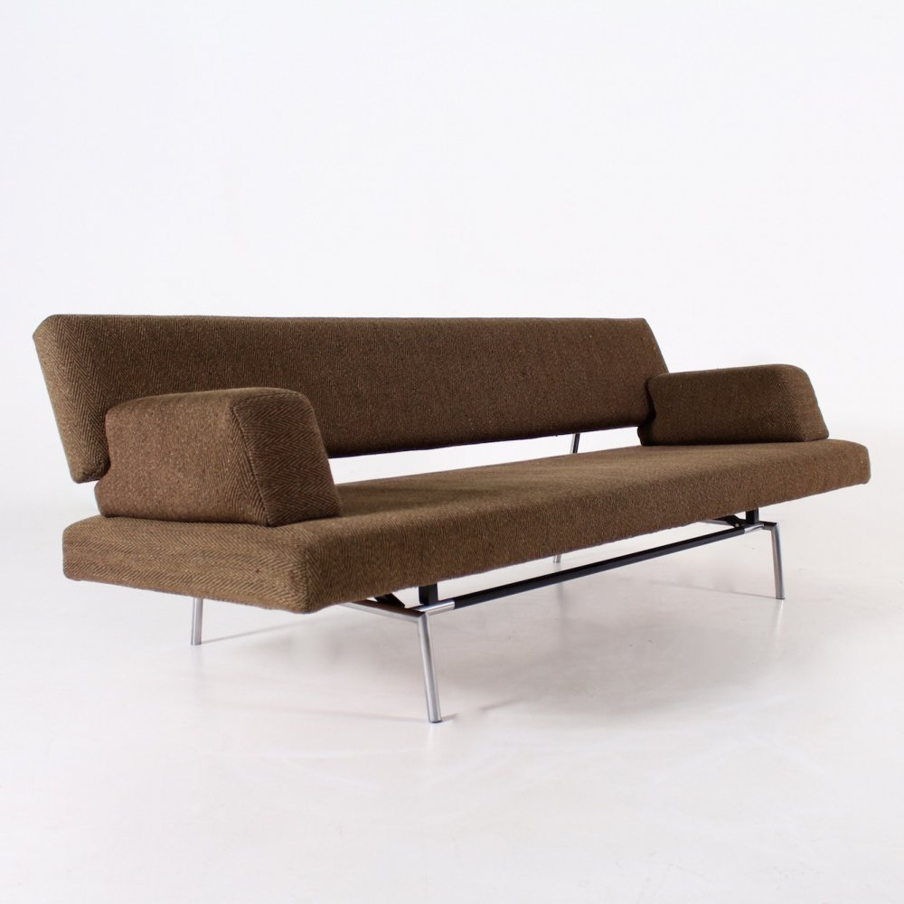 Brown fabric daybed by Martin Visser for Spectrum, 1960