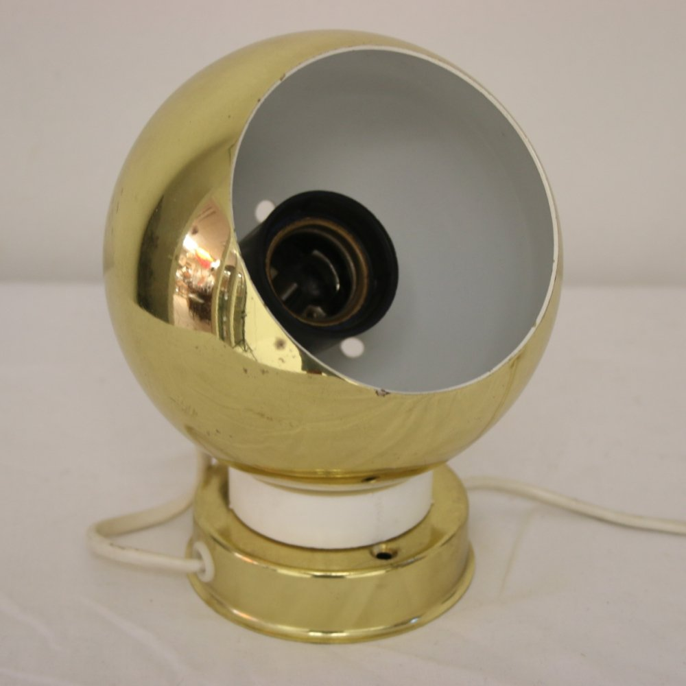 Gold colored magnet ball light, 1960s