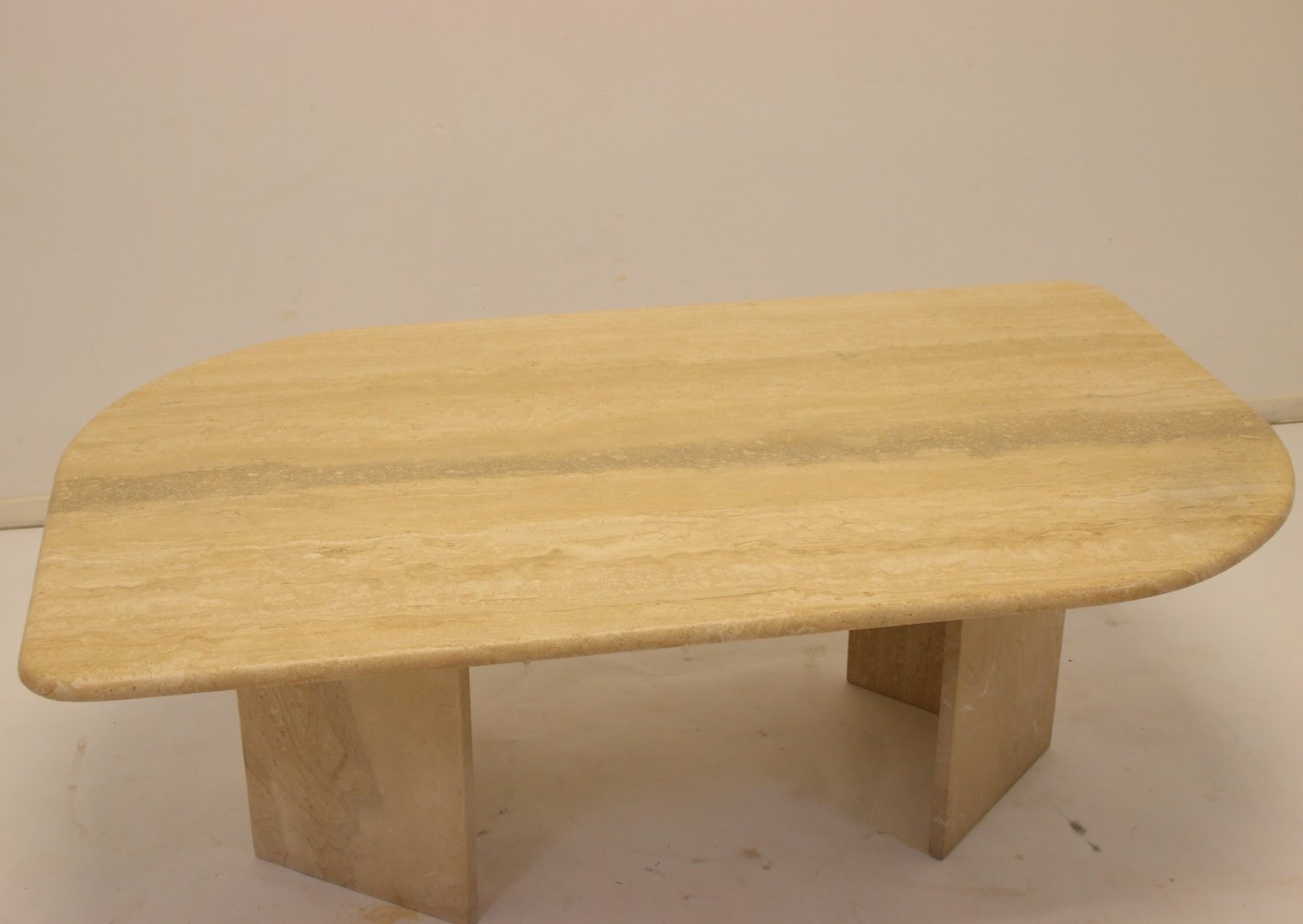 French Travertine marble Coffee table, 1960