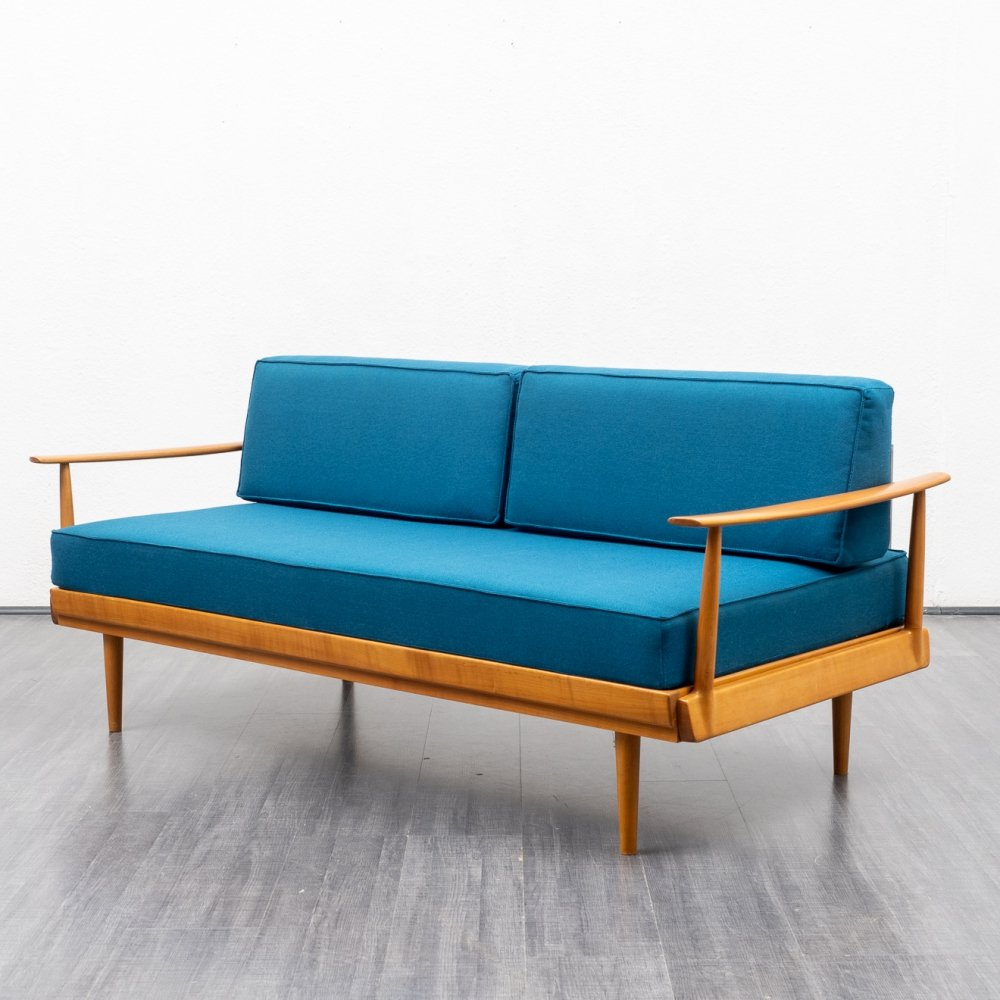 Vintage 1960s Knoll Antimott daybed in cherrywood