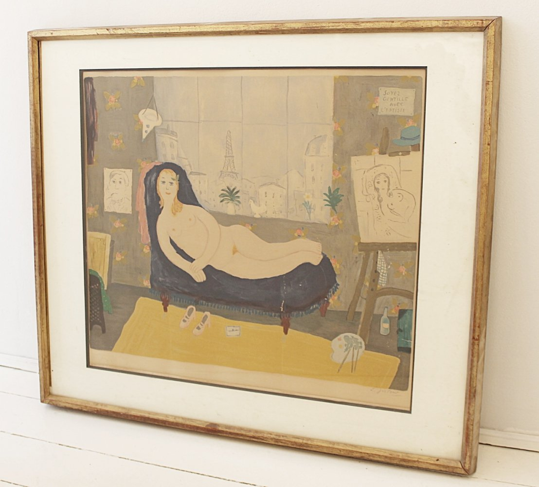 Lithography signed by Lennart Jirlow, Sweden 1950s