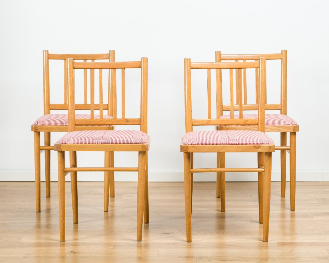 Set of 4 dining chairs from TON, 1970s