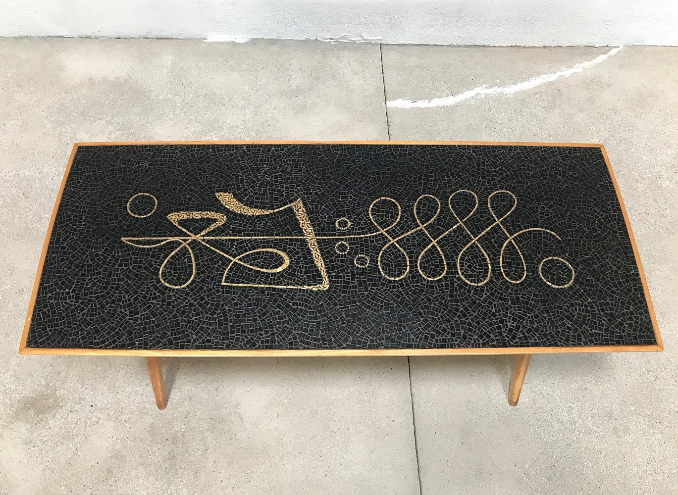 German Mosaic Coffee Table by Berthold Müller, 1950s