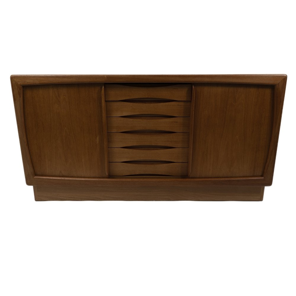 Dyrlund Sideboard with rolling doors, 1970s
