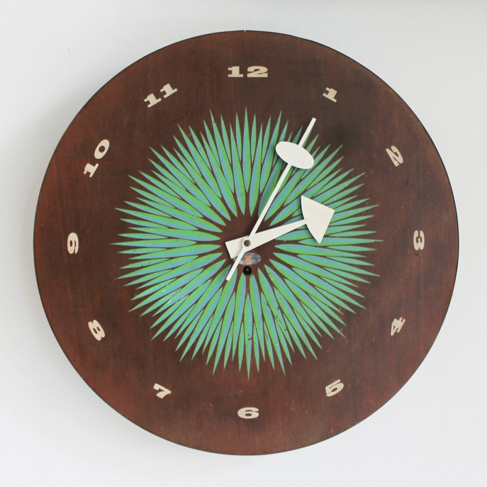Original mechanical wall clock by George Nelson, 1957