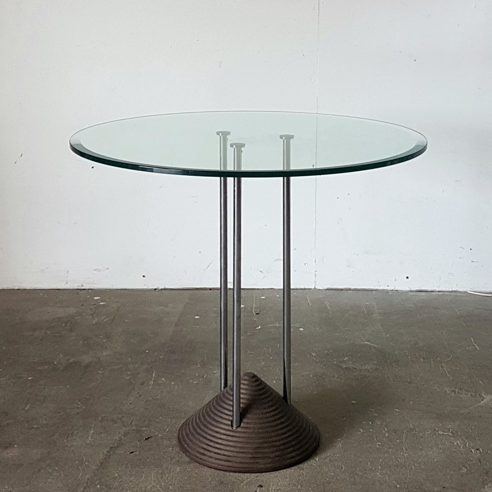 Post modern Memphis style side table, 1980s