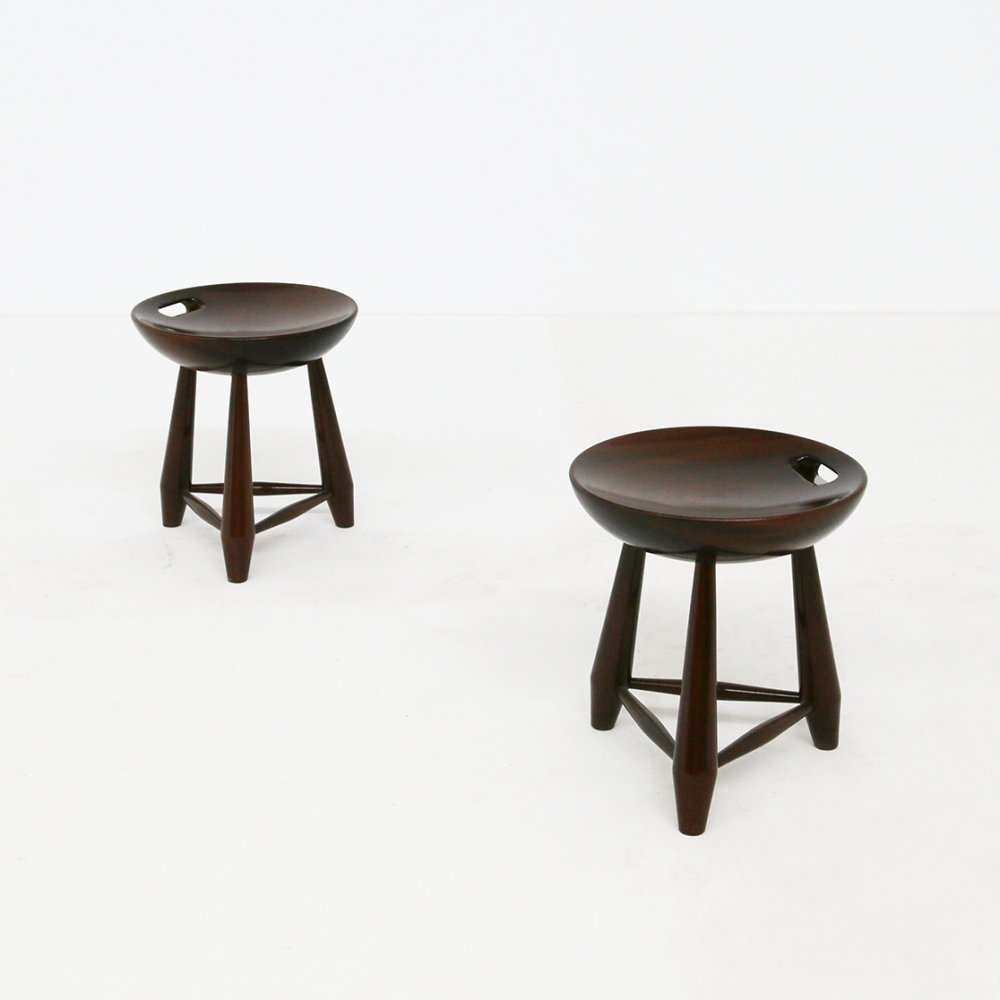 Pair of Mocho stools by Sergio Rodrigues, 1950s