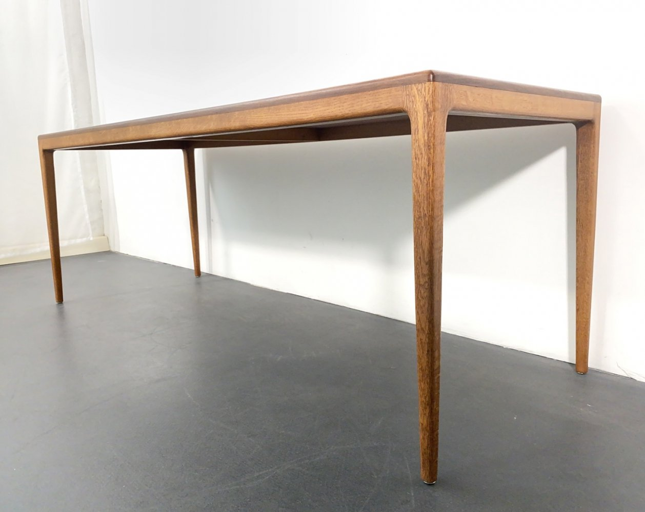 Large Mid Century Teak Coffee Table by Hartmut Lohmeyer for Wilkhahn, 1960s
