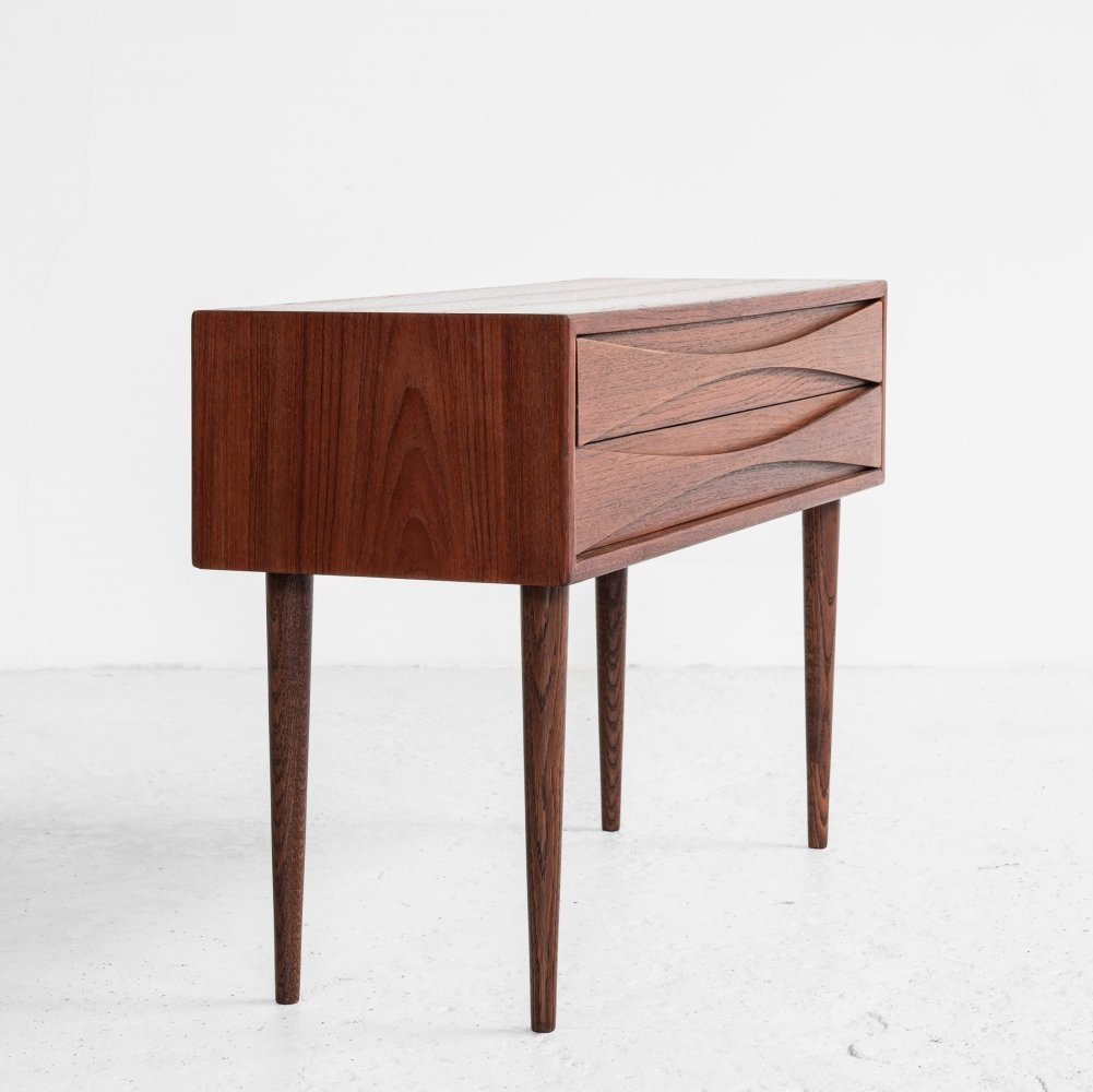 Midcentury Danish chest of 2 drawers by Niels Clausen for NC Møbler, 1960s