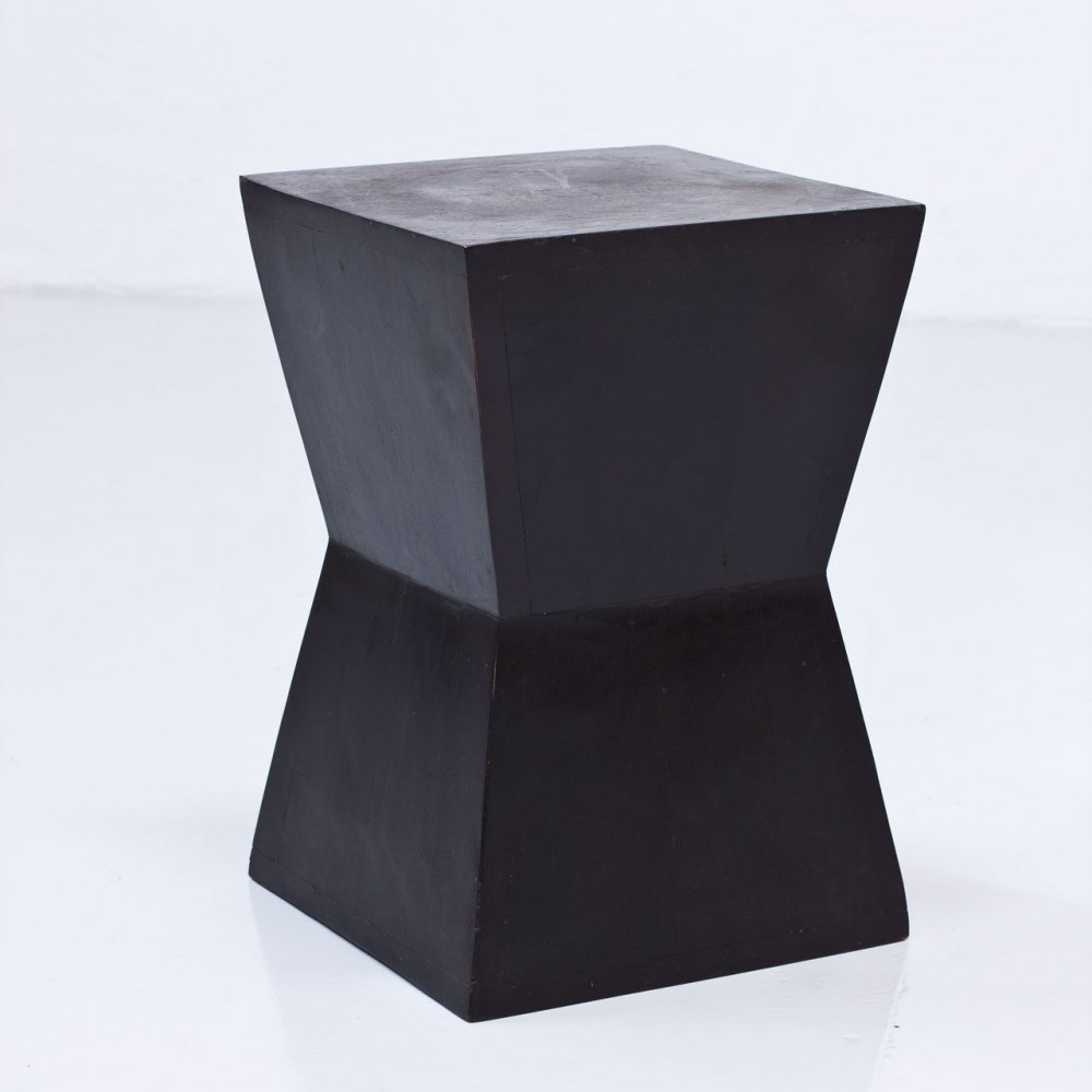 French 1950s Wooden Pedestal / Stool