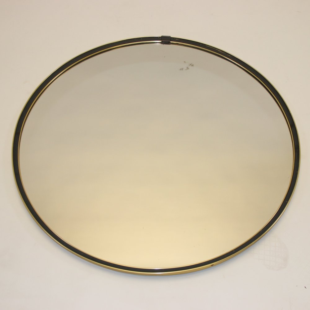 Large round chrome mirror, 1960s
