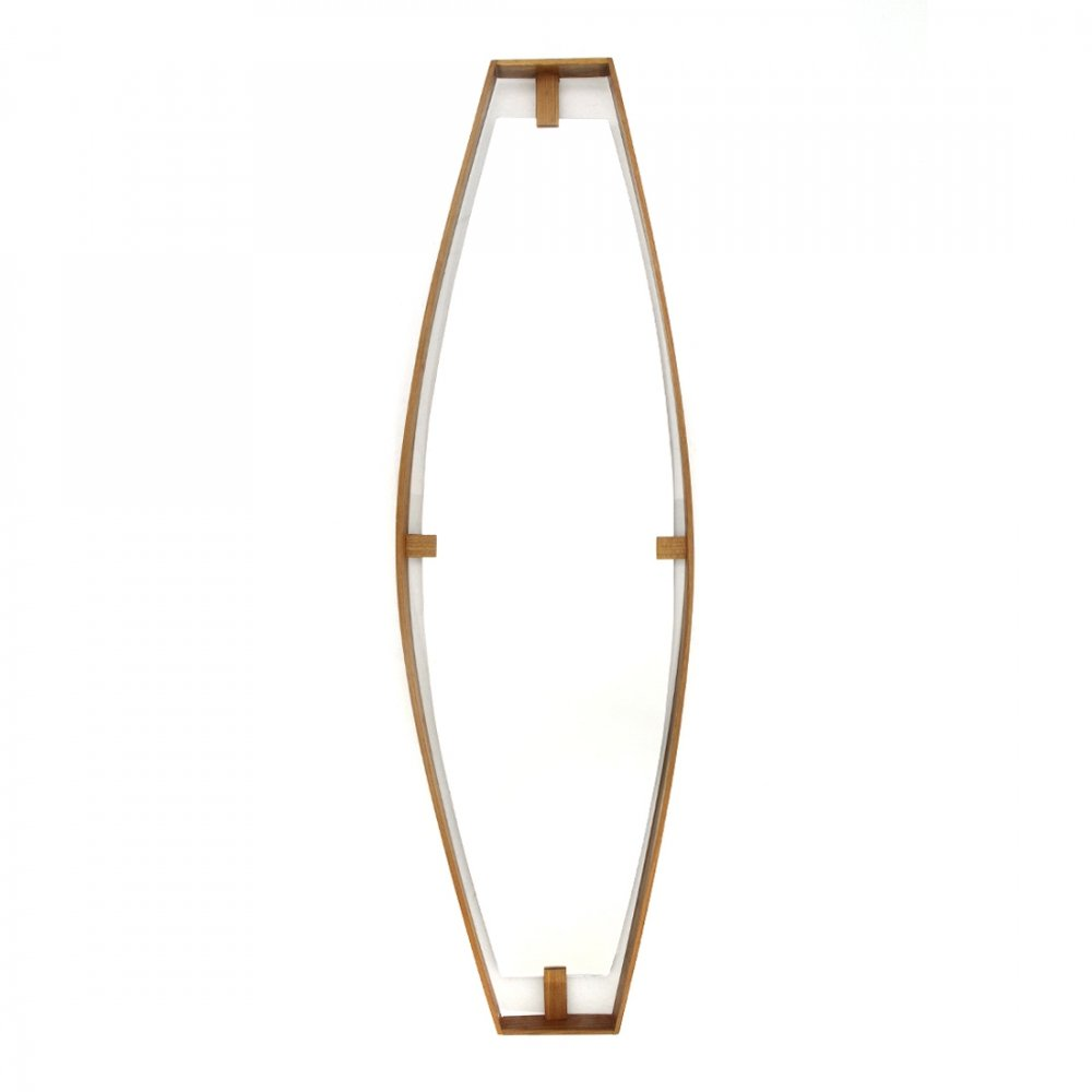 Mirror with wooden frame, 1960s
