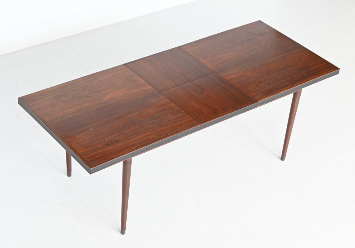 Unusual extendable rosewood dining table, Denmark 1960