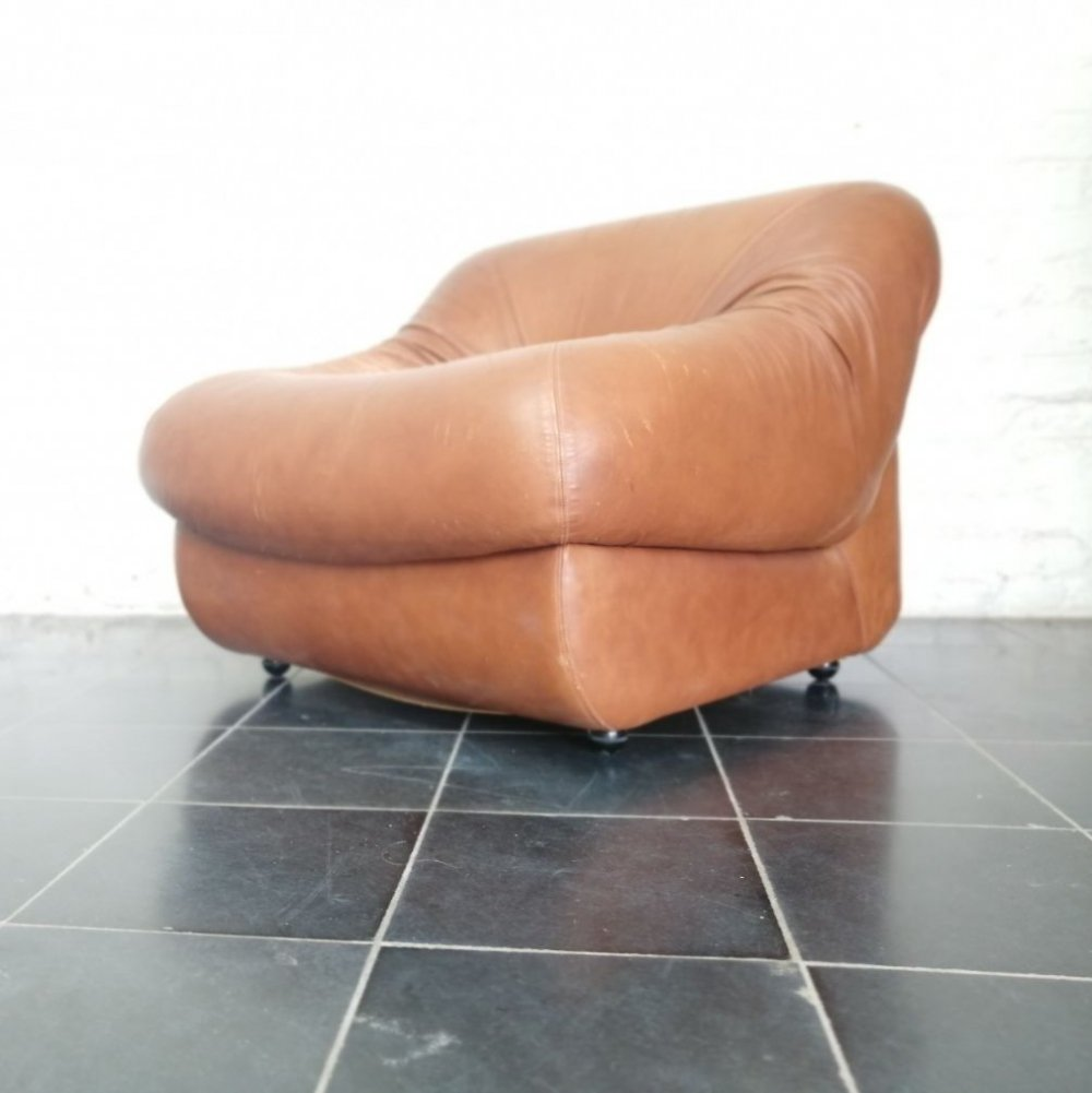 Leather seventies easy chair