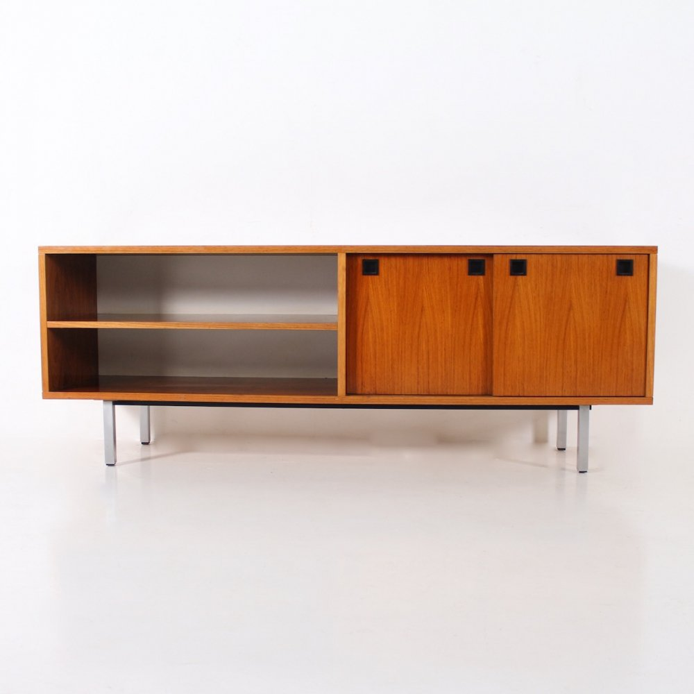 Rosewood low buffet with adjustable feet by Alfred Hendrickx for Belform, 1960