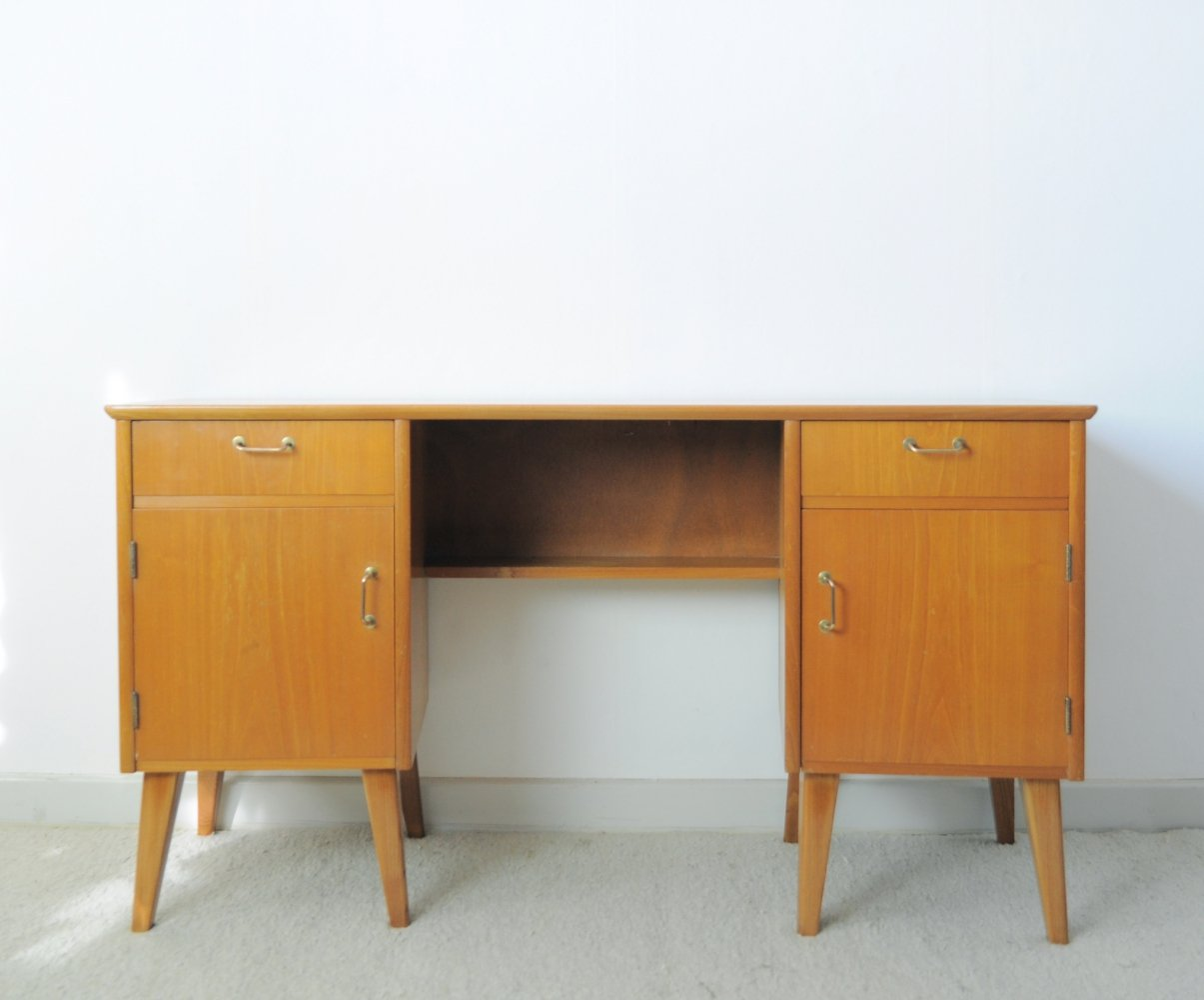 Childs Executive Desk in Ash with Bowed Top, 1950s