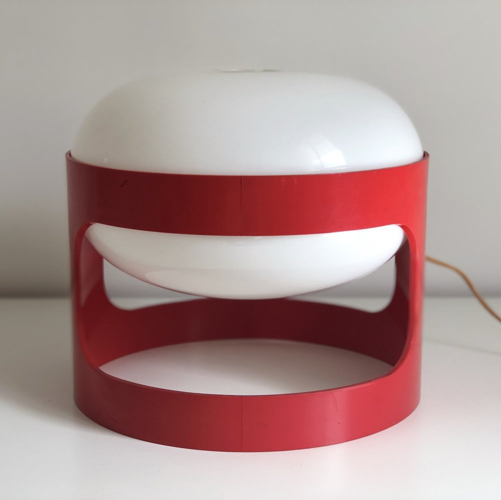 Red KD27 Table Lamp by Joe Colombo for Kartell, 1967