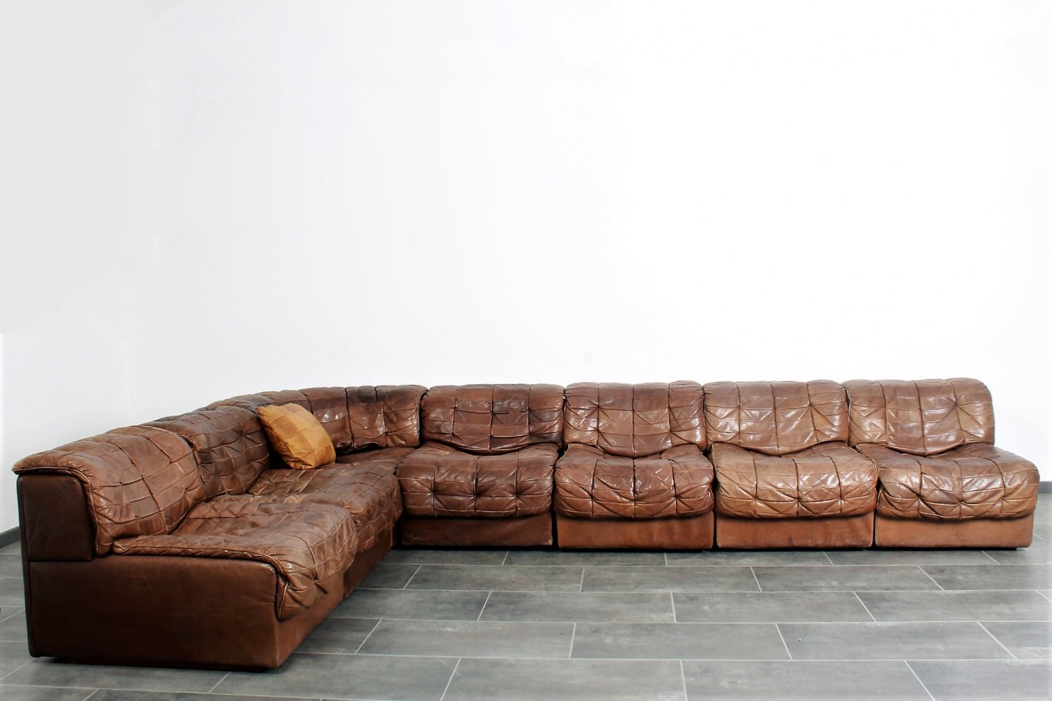 Big DS11 lounge corner by De Sede in leather, 1970s