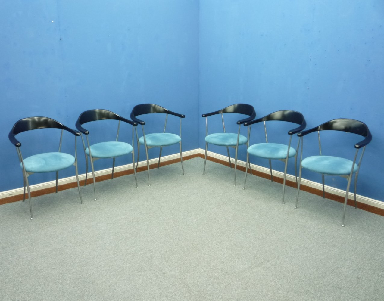 Set of 6 Dining Room Chairs by Enzo Mari for Zanotta, Italy 1980s