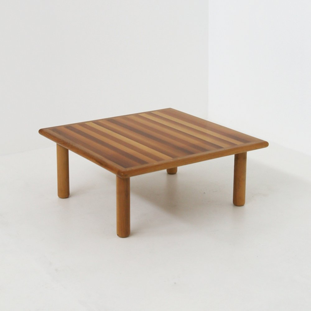 Italian Coffee Table in Wood by Afra & Tobia Scarpa for Cassina, 1970s