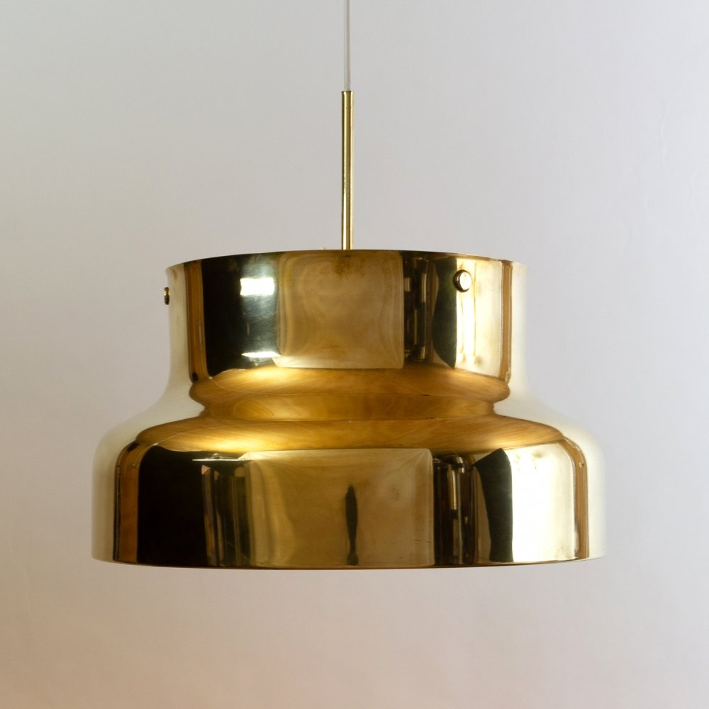 Brass Bumling Pendant Light by Anders Pehrson for Ateljé Lyktan, Sweden 1960s
