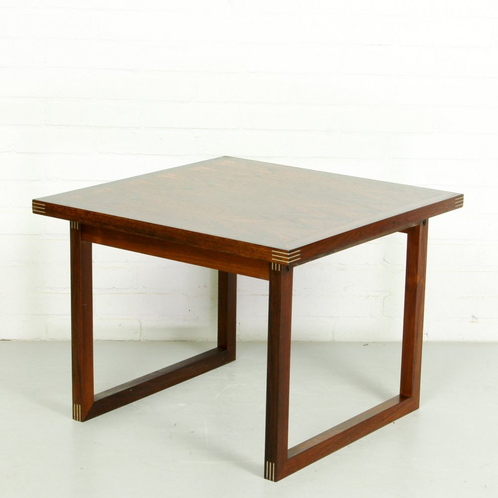 Danish Modern Rosewood Coffee Table by Rud Thygesen for Heltborg Møbler, 1960s