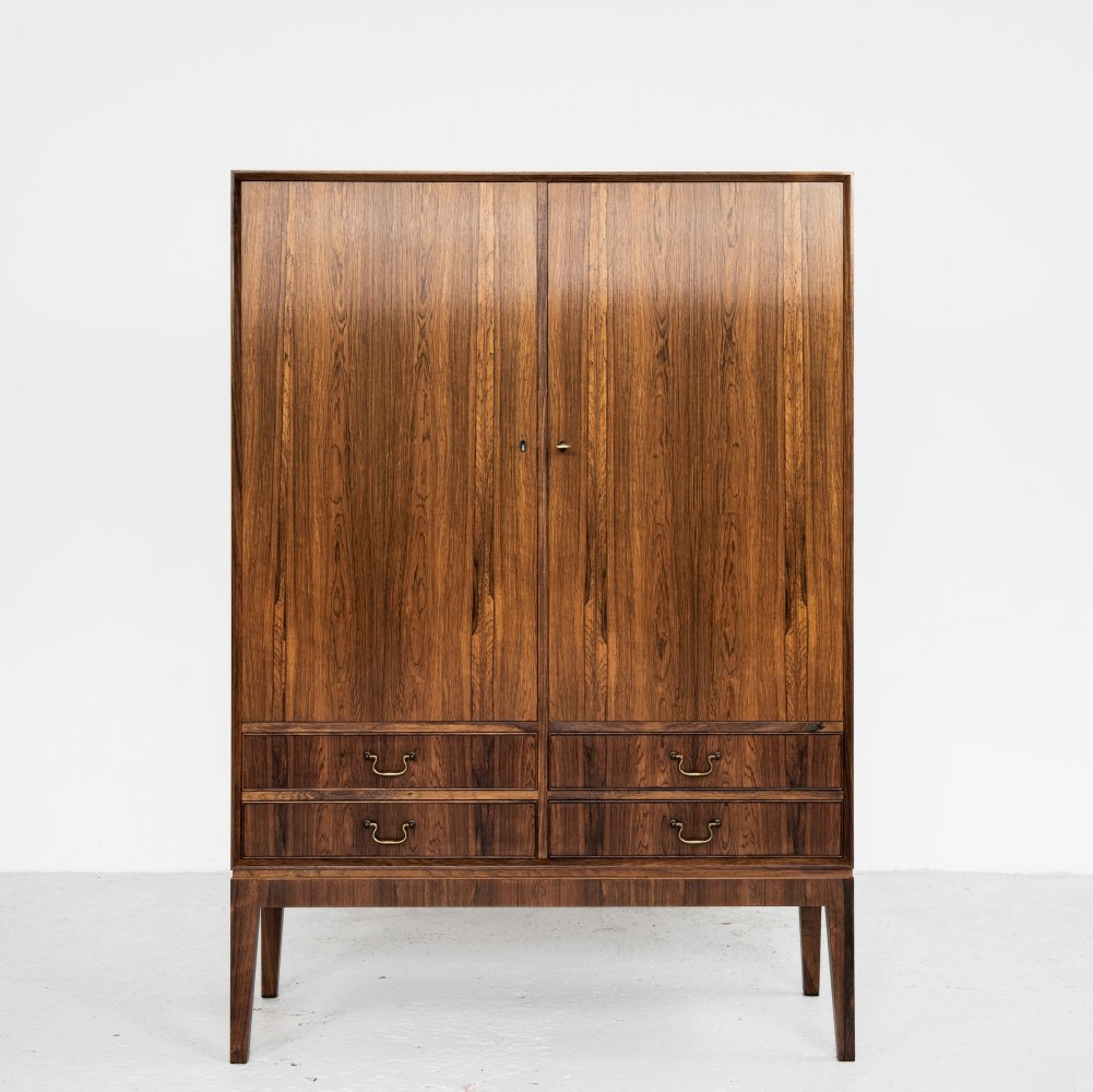 Midcentury Danish cabinet in rosewood with 2 doors & 2 drawers, 1960s