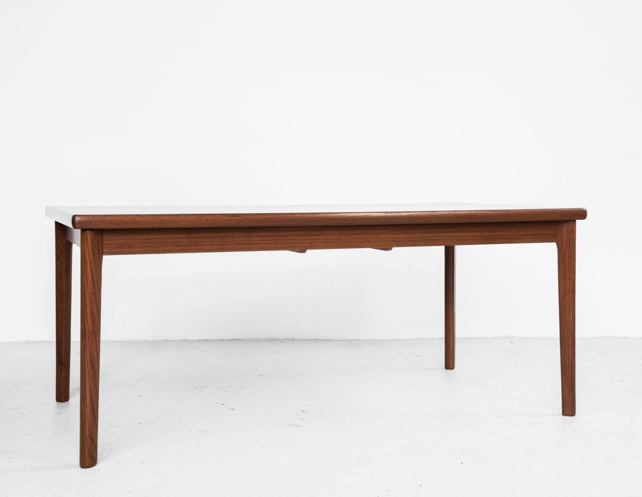 Midcentury Danish rectangular dining table in teak with 2 extensions, 1960s