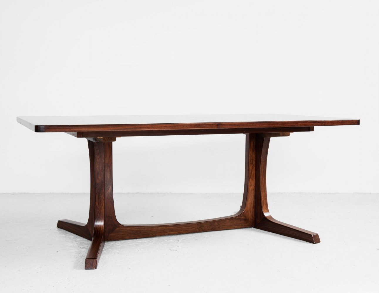 XL Danish rectangular dining table in rosewood by Gudme Møbelfabrik, 1960s