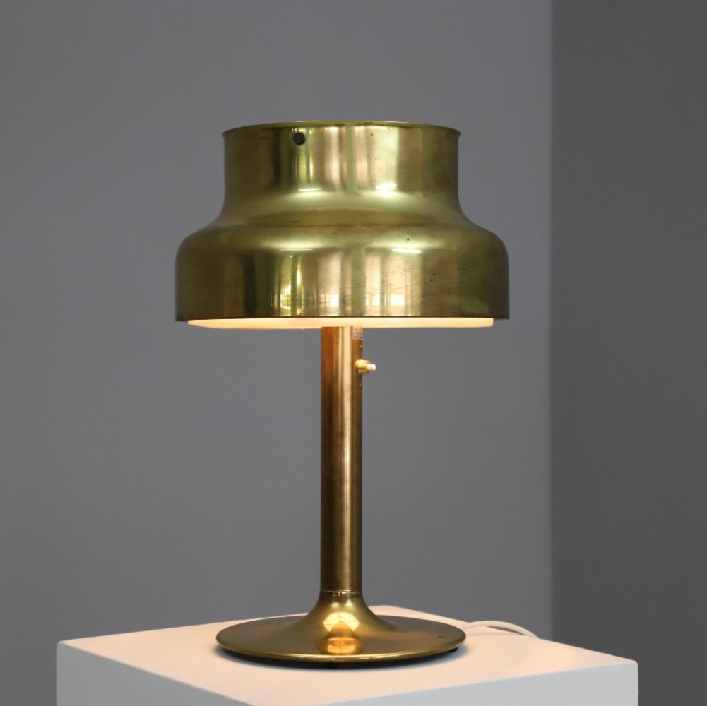 Patinated brass Bumling table lamp by Anders Pehrson for Ateljé Lyktan, 1960s