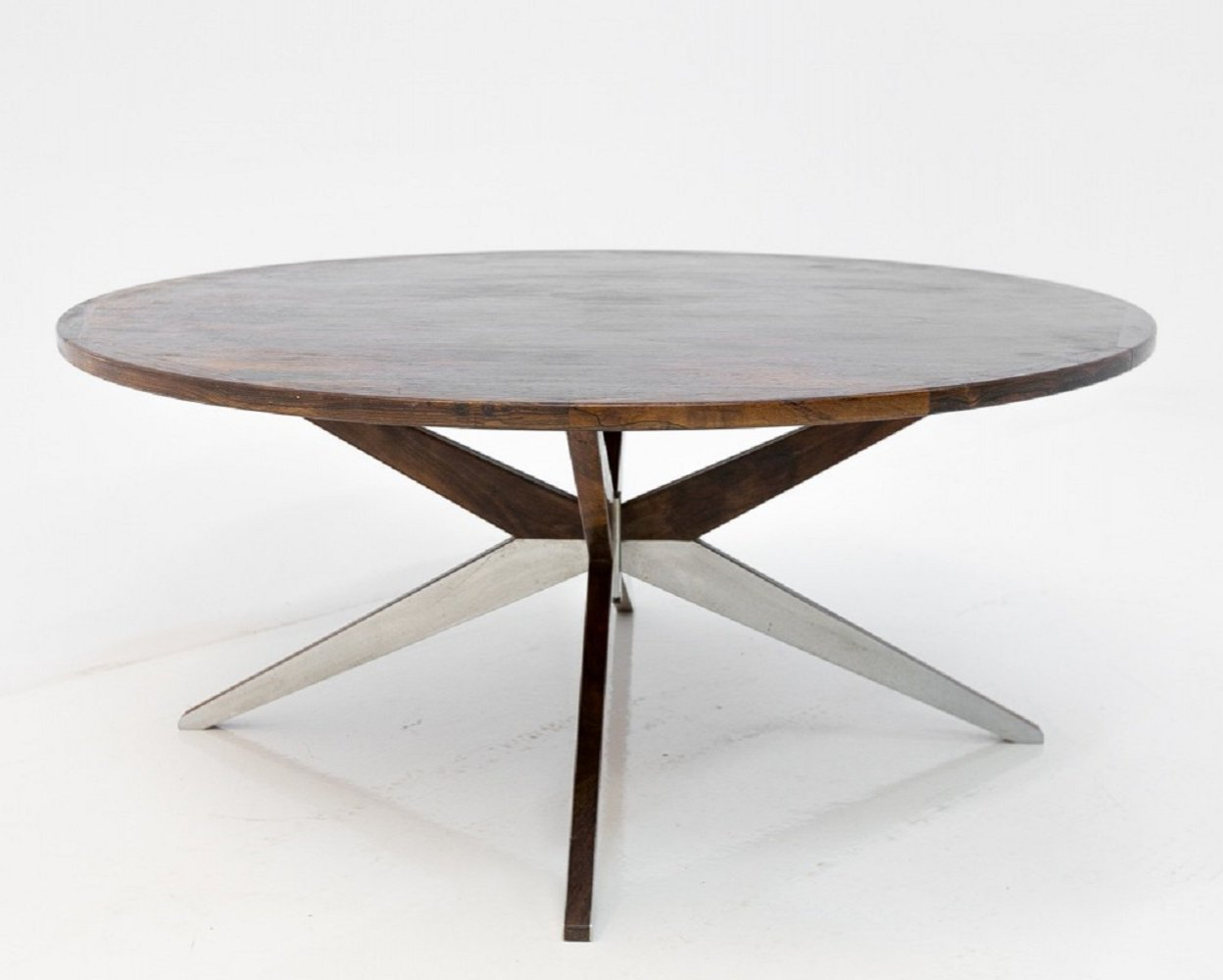 Star leg rosewood coffee table, 1960s
