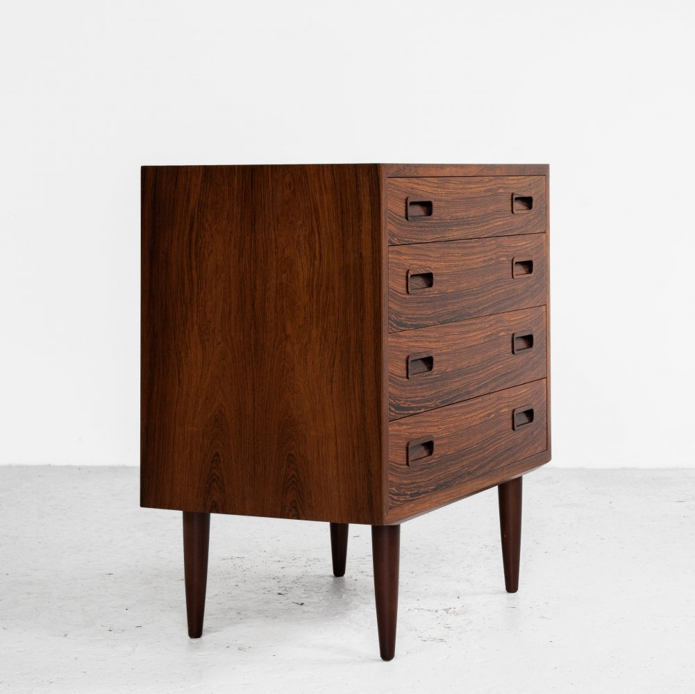 Midcentury Danish chest of 4 drawers in rosewood by Hundevad, 1960s