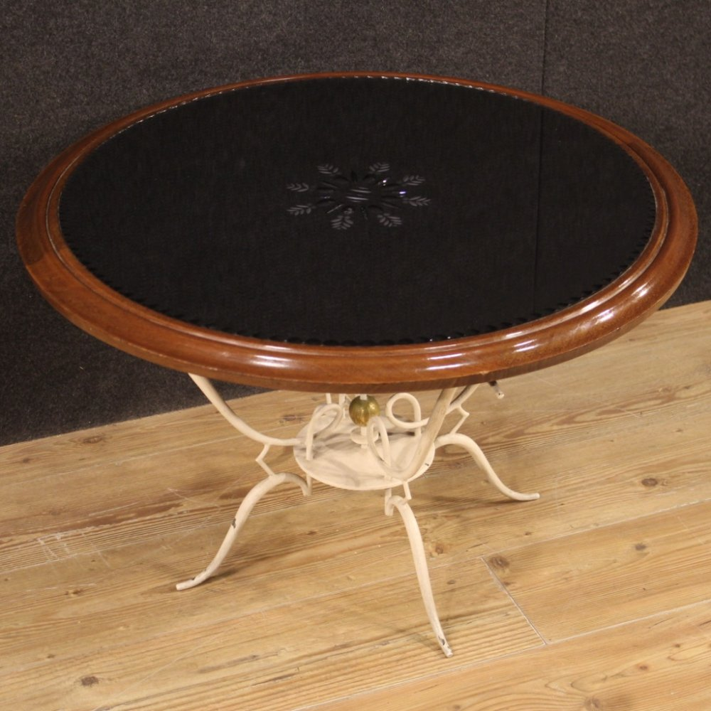 20th Century Painted Metal French Design Coffee Table, 1960