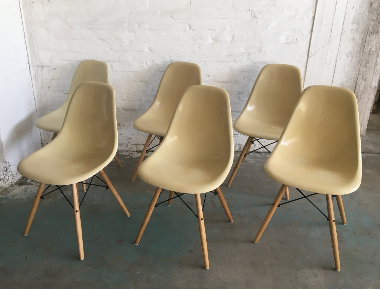 Set of 6 dining chairs by Charles & Ray Eames for Herman Miller, 1960s