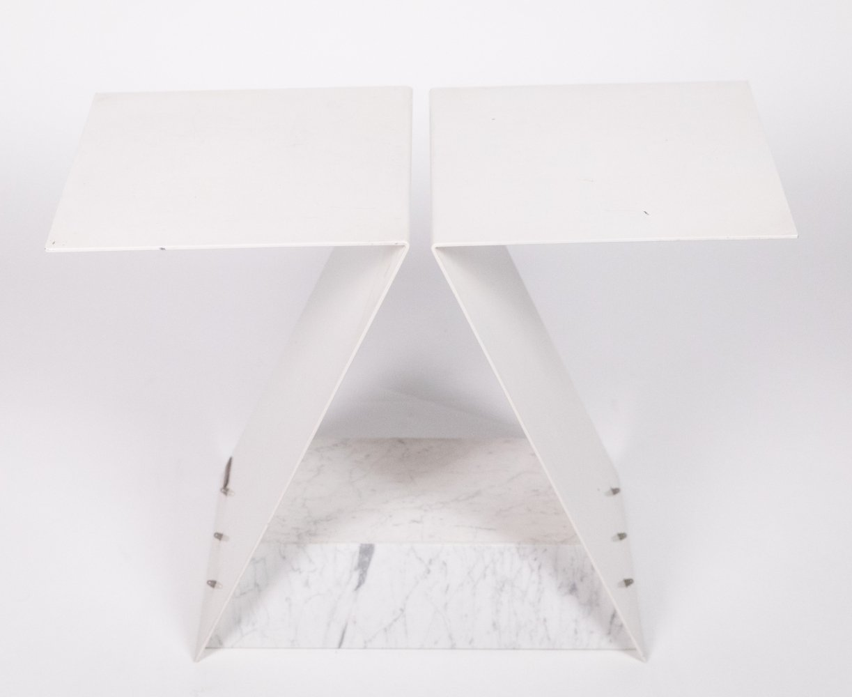 Sculpture / Table by Manfred Billinger with white marble