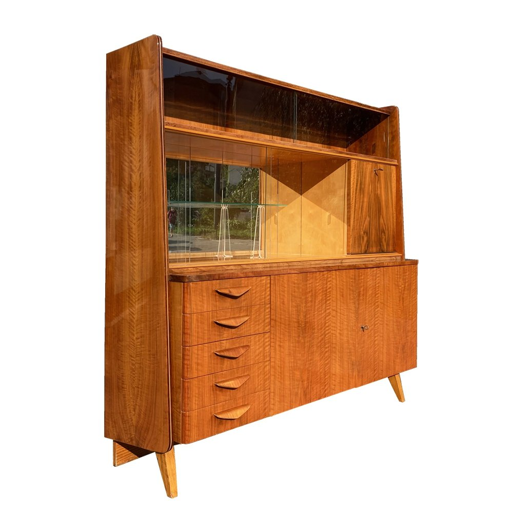 Dresser in walnut veneer by František Jirák for Tatra Nabytok, Czechoslovakia 1960s