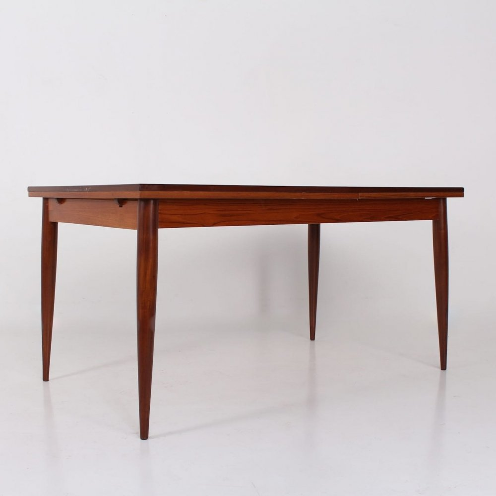 Teak extending table by Oswald Vermaercke for V Form, 1950