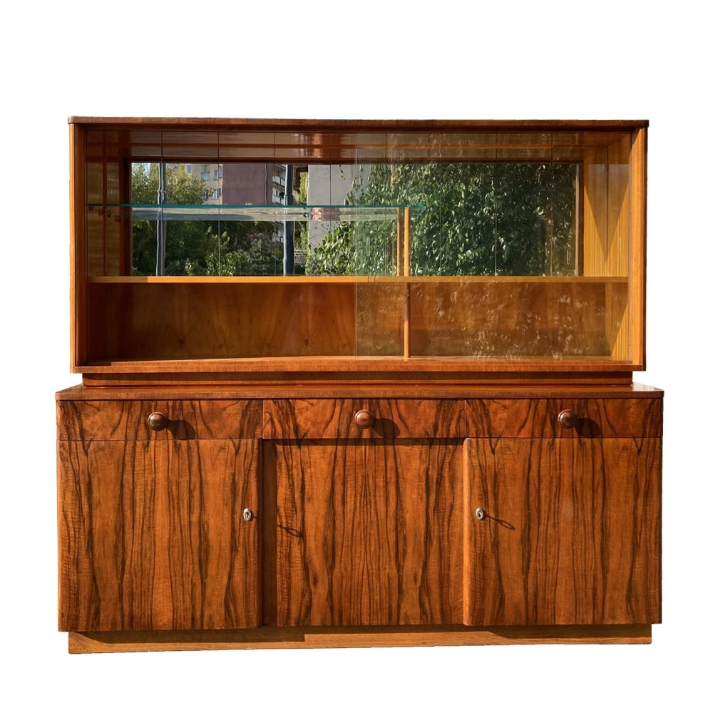Dresser in walnut veneer by UP Zavody Brno, Czechoslovakia 1955
