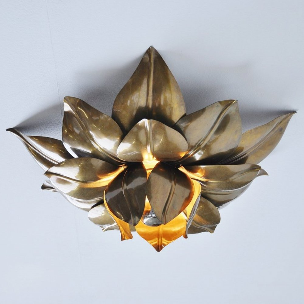 Maison Charles flower ceiling lamp, France 1970