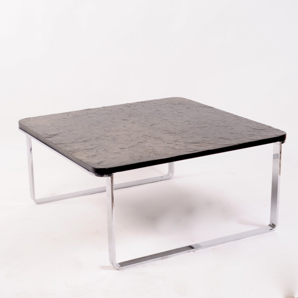 Coffee table with slate top by Draenert, 1980s