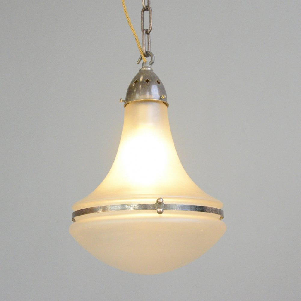 Luzette Pendant Light by Peter Behrens for Siemens, Circa 1920s